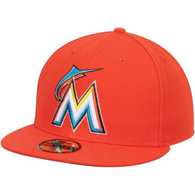 eef94024ef1 Miami Marlins New Era Performance Away 59FIFTY Fitted Hat - Orange ...