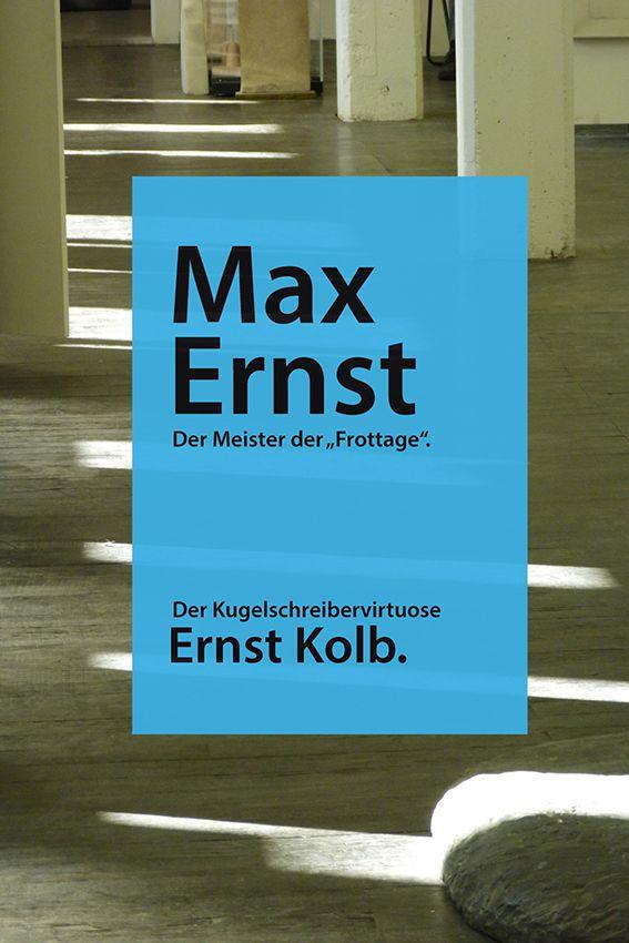 Eine Serie von Ernst Kolb gewidmeten Sujets auf kleinformatigen bunten Zetteln für Anschlagbretter sowie A4-Plakaten, mit der Aufgabe, vermehrt auf den kaum bekannten, aber innerhalb des Bereichs von Art Brut gewichtigen Künstler, aufmerksam zu machen. Als Download verfügbar auf der Webseite www.aussenseiterkunst.ch