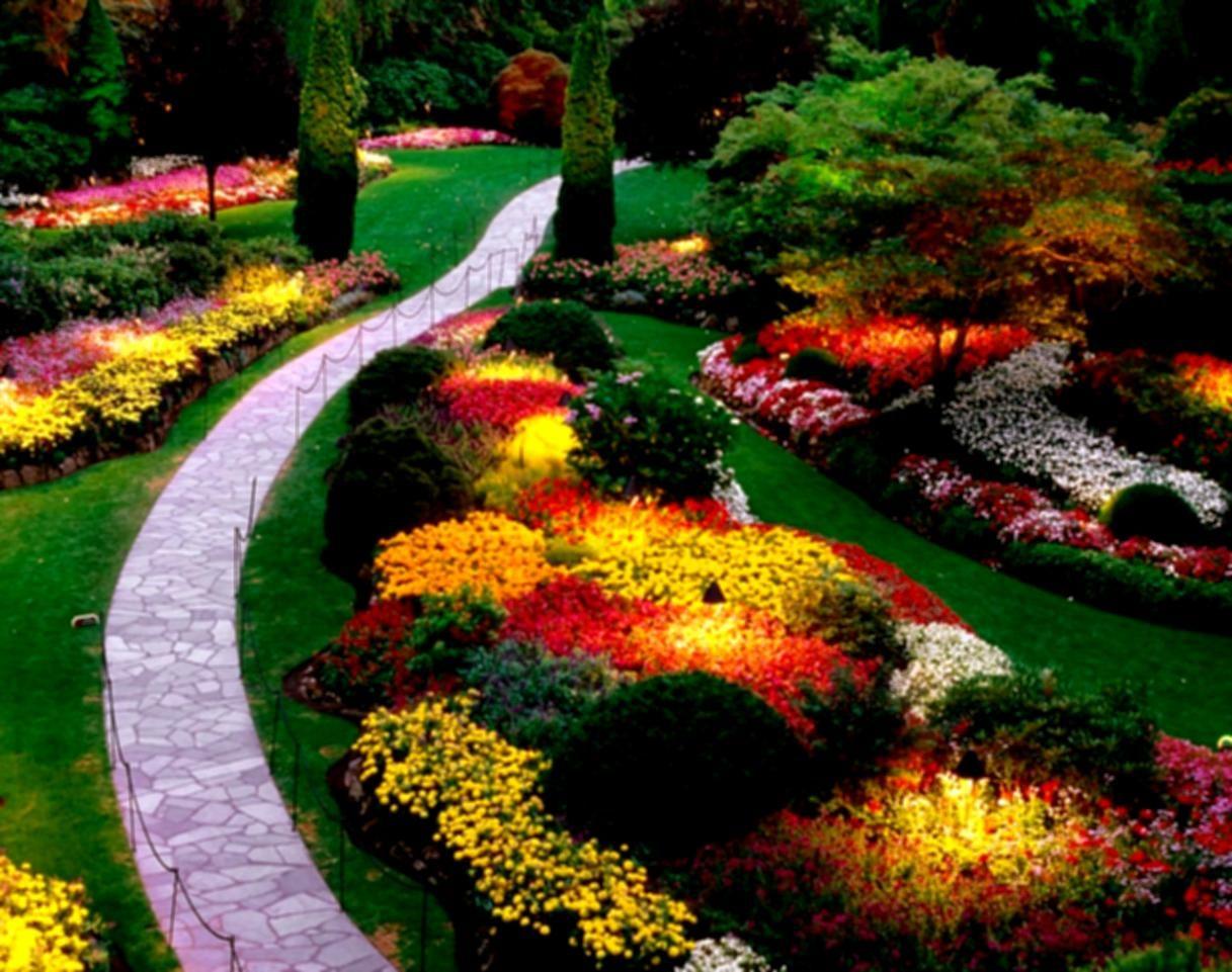 Architectures Magnificent Landscape Design Idea With Colorful