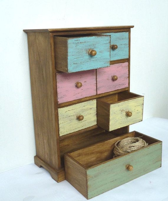 Wooden Tabletop Cabinet Chest Of Drawers Jewelry Box Wood Dresser Countryu2026