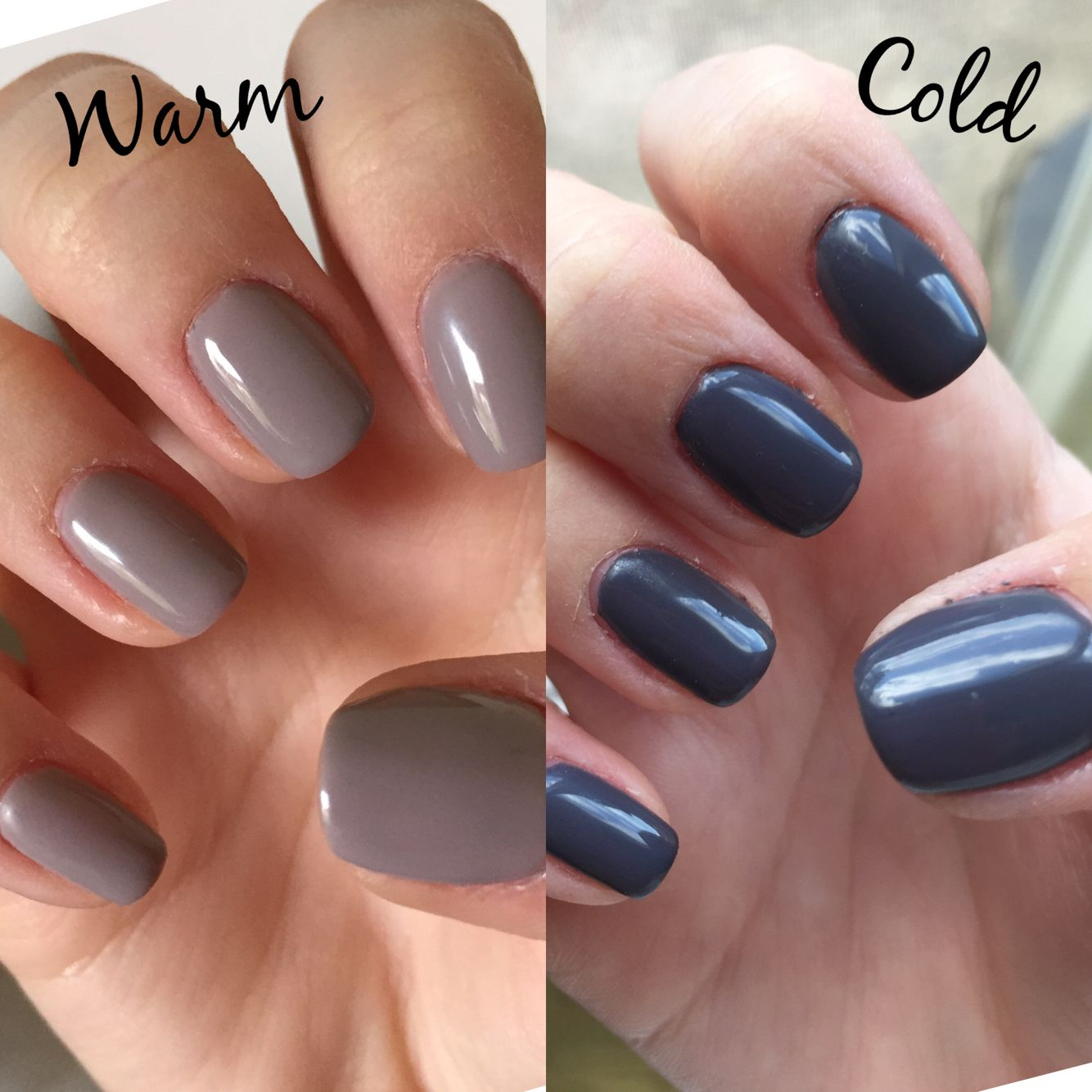 lechat perfect match mood gel color: smokey haute   nails