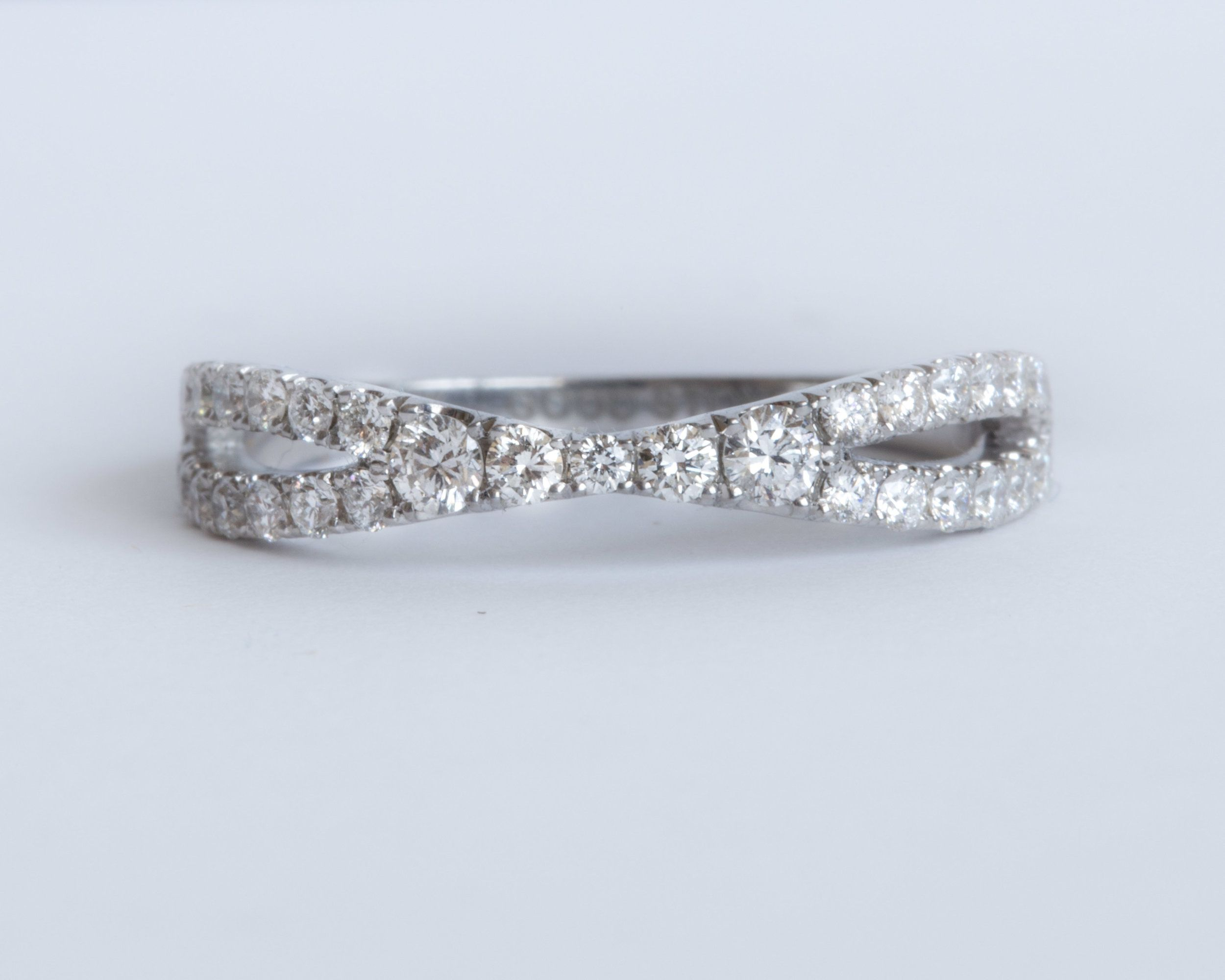 Good Stone Criss Cross Stacking Diamond Ring the best