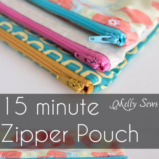 A 15 minute sewing project? Yes, please! Use this zipper pouch tutorial by Melly Sews to create a little carrier, lickety-split. -Sewtorial