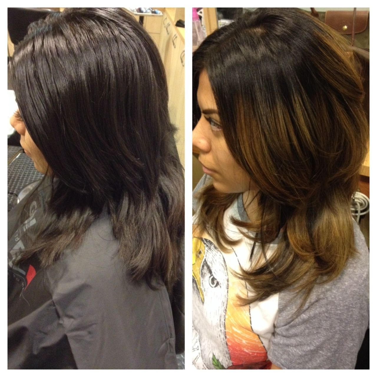 Ombr Haircut Blowout And Style By Kara Ombre Highlight
