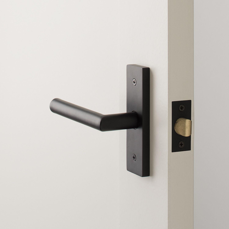 Rome Small Door Set With Otto Lever Flat Black Doors Interior Modern Door Handles Interior Door Handles Modern