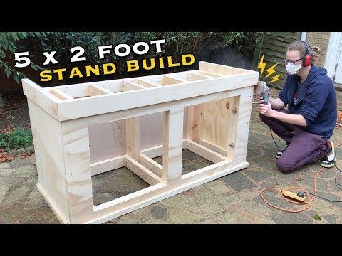 388 133 How To Build A 40 Gallon Breeder Aquarium Stand For 25 Diy Wednesday Youtube Aquarium Stand Fish Tank Stand Fish Tank Cabinets