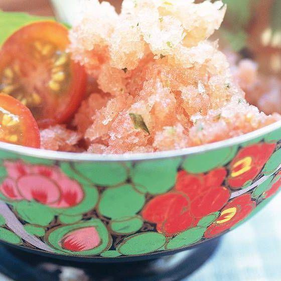 Tomaten-Minz-Sorbet Tomaten-Minz-Sorbet