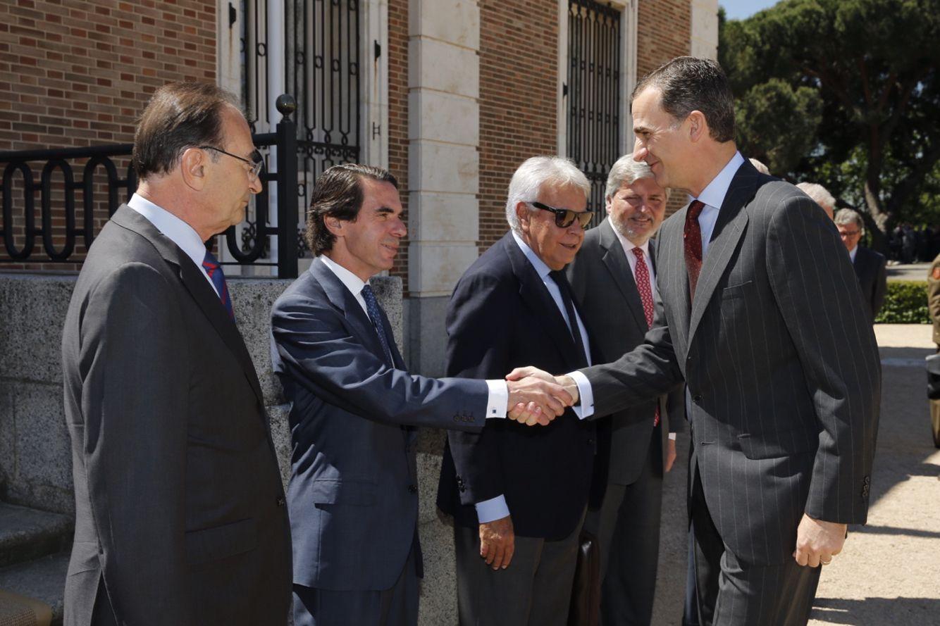 El Rey Felipe VI preside la reunión del Patronato del Real Instituto Elcano @rielcano en el Palacio de La Quinta.  07-06-2016