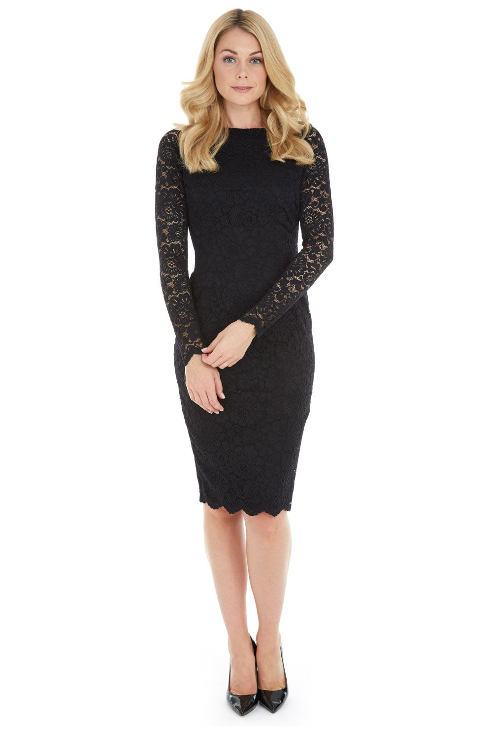 Blake Black Luxury Lace Pencil Dress - view 1   pin-up   Pinterest ...