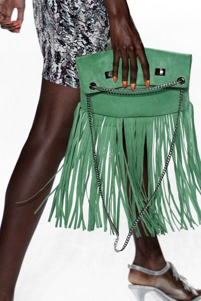 Tracy Reese SS 2013 #MBFW: Get your fringe here . . .