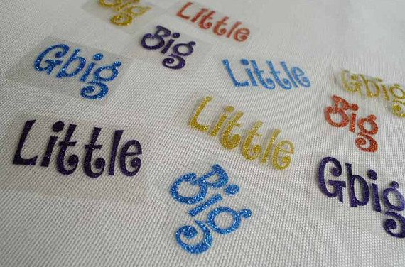 big little frocket shirt diy iron on letters by colormeuncommon