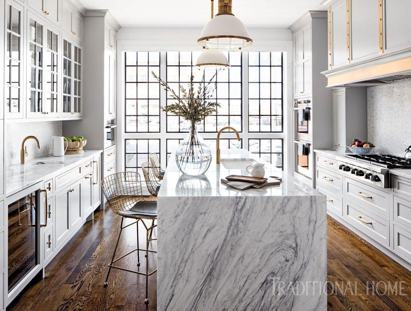 Glamorous White Kitchen Designed by Interior Designer Bria Hammel - #Bria #By #designed #designer #Glamorous #Hammel #interior, #KITCHEN #WHITE