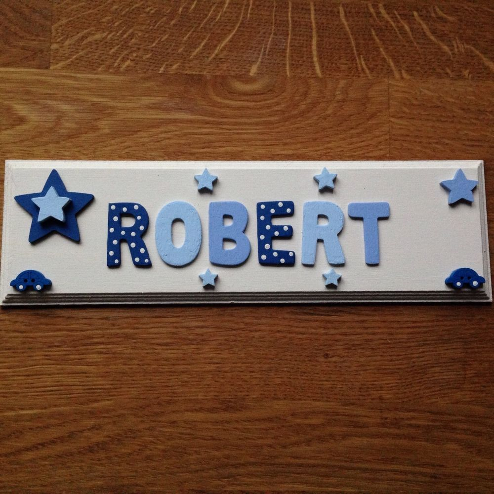 Personalised Bedroom Door Sign Nursery Sign Children Wall Sign Handmade