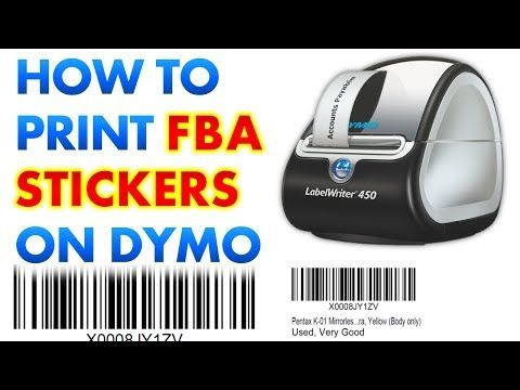 How to Print Amazon FBA Labels / Stickers on a Dymo Label