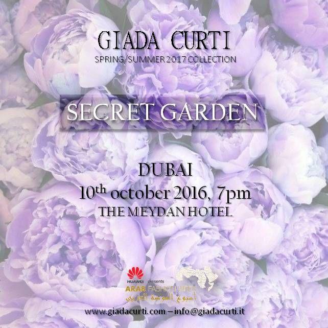 "Giada Curti ""Secret Garden"" SS2017 Collection Presentation at Huawei Arab Fashion Week Dubai october 10,2016"