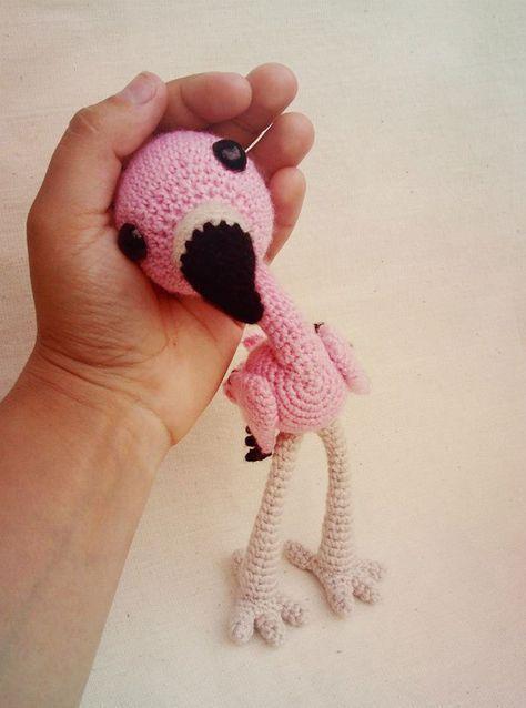 Baby flamingo amigurumi pattern free | Häkelanleitungen | Pinterest ...