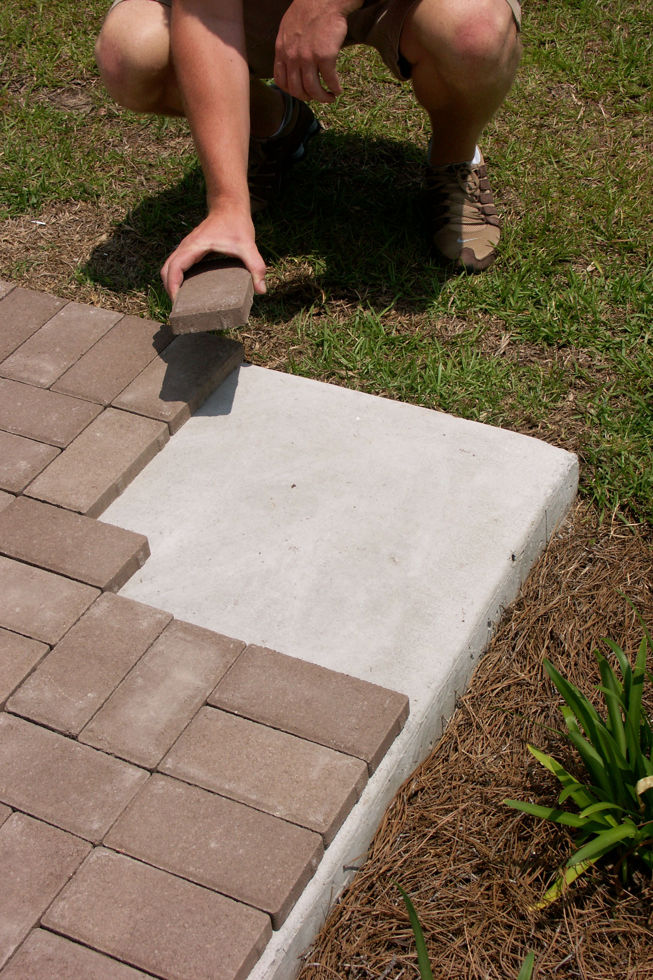 Thin Pavers Small Front Yard Landscaping Concrete Patio Pavers Over Concrete