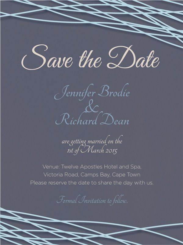Save The Date Option Sea View Themed Wedding E Invitation