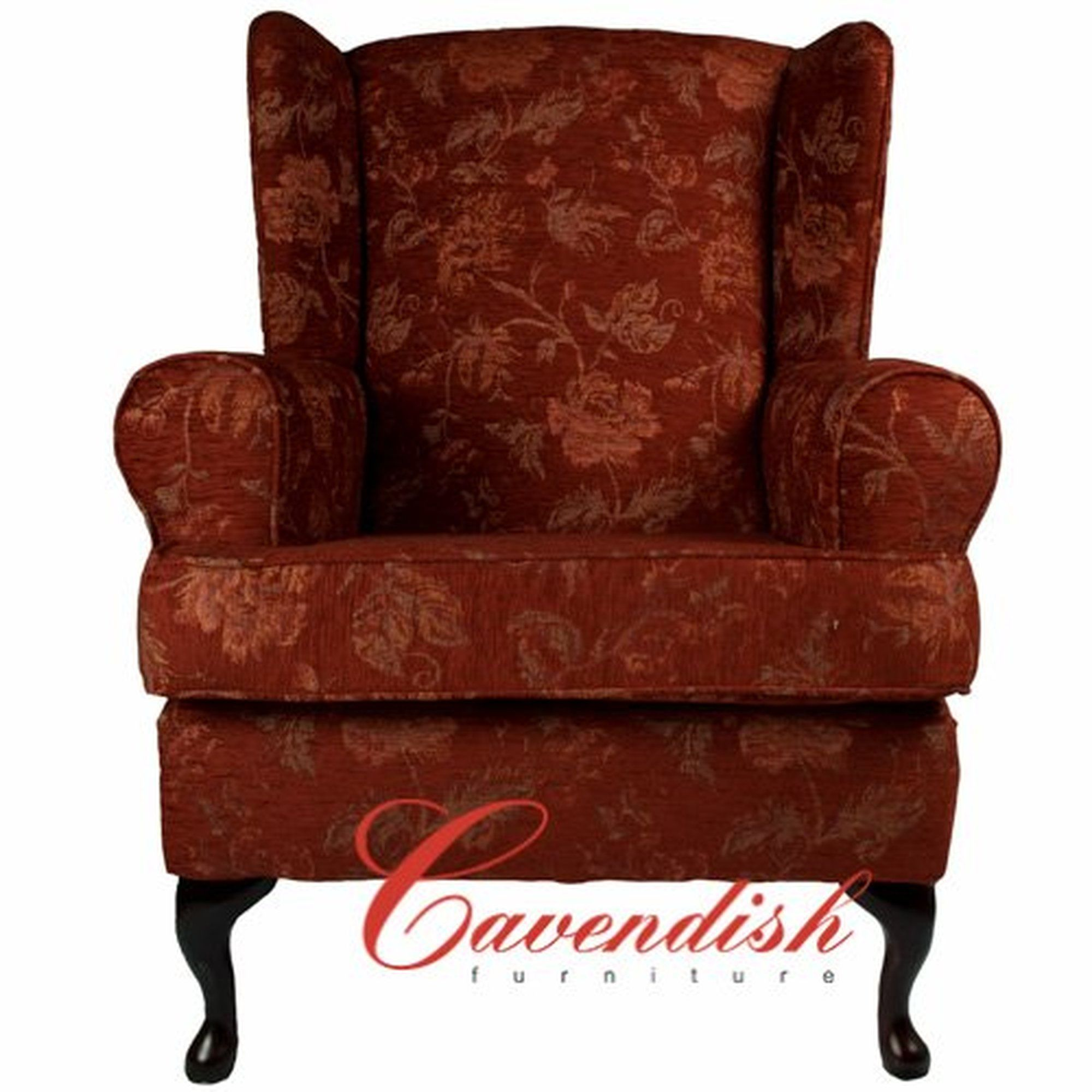 Luxury Orthopedic Chair In Floral Terracotta Fabric. £299.99