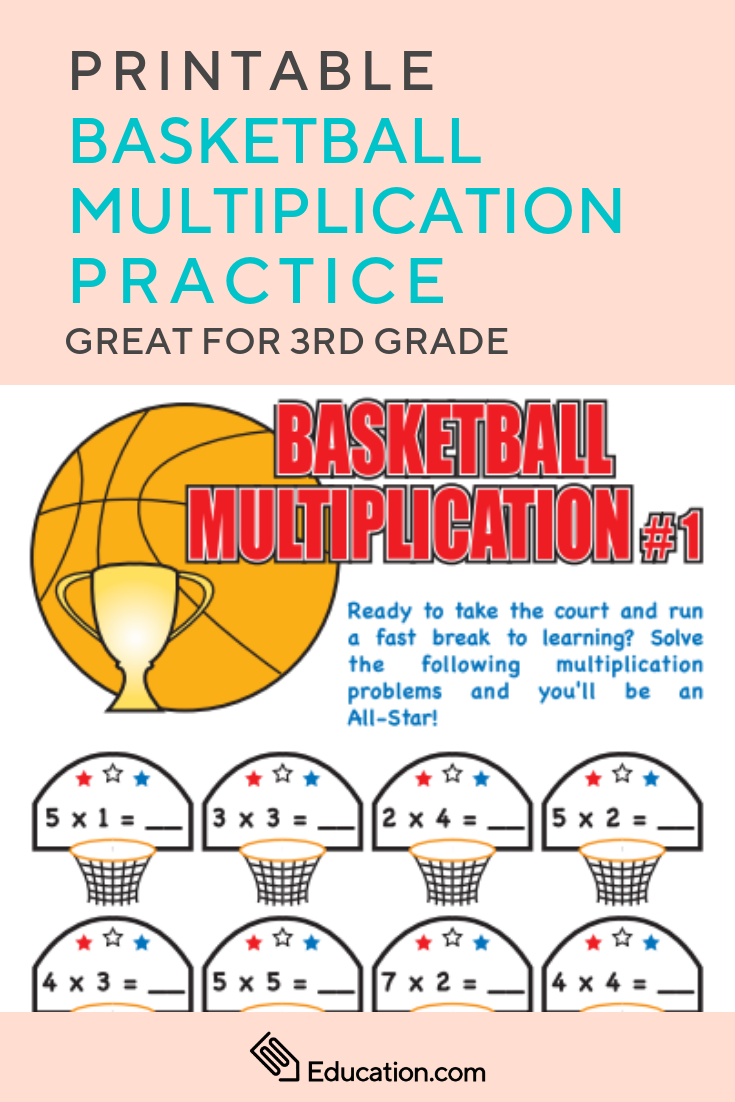 small resolution of Basketball Multiplication   Worksheet   Education.com   Basketball math
