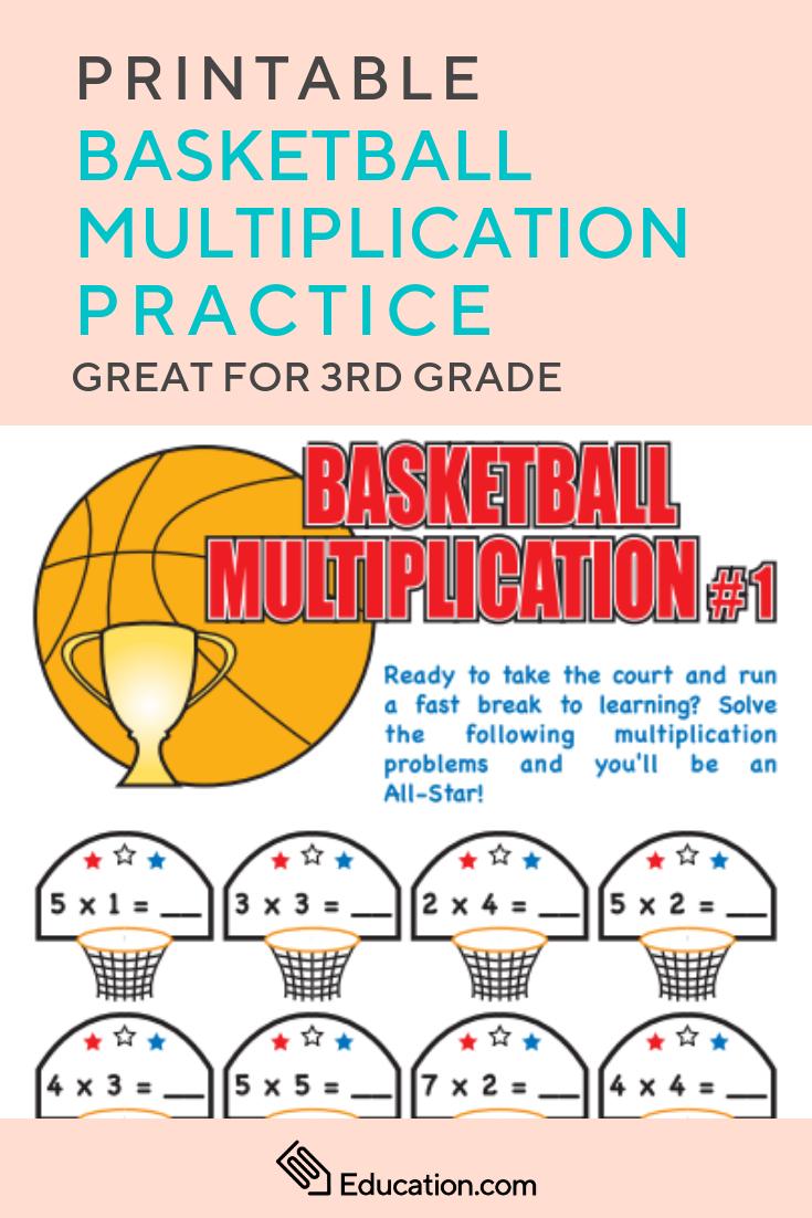 Basketball Multiplication Worksheet Education Com Basketball Math Math Practices Math Worksheets [ 1102 x 735 Pixel ]