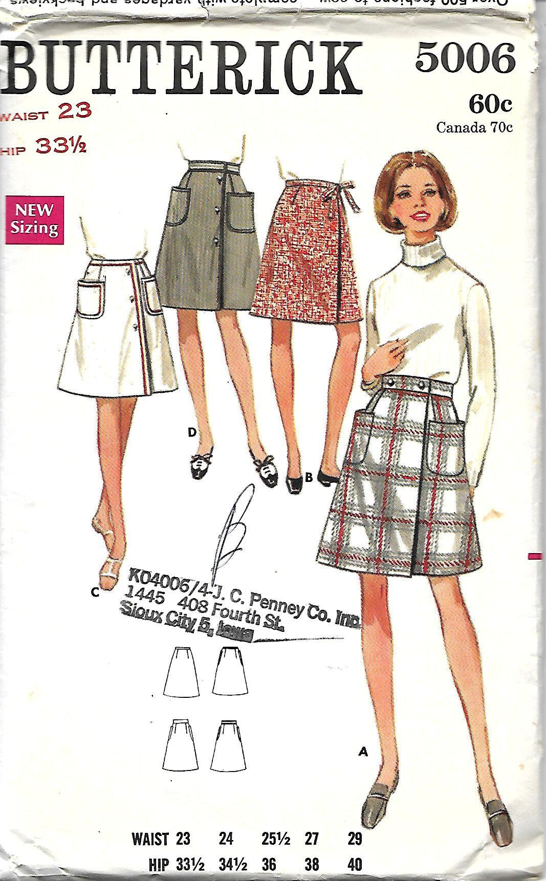 Butterick 5006 sewing pattern misses a line front wrapped skirt butterick 5006 sewing pattern misses a line front wrapped skirt in four versions jeuxipadfo Choice Image