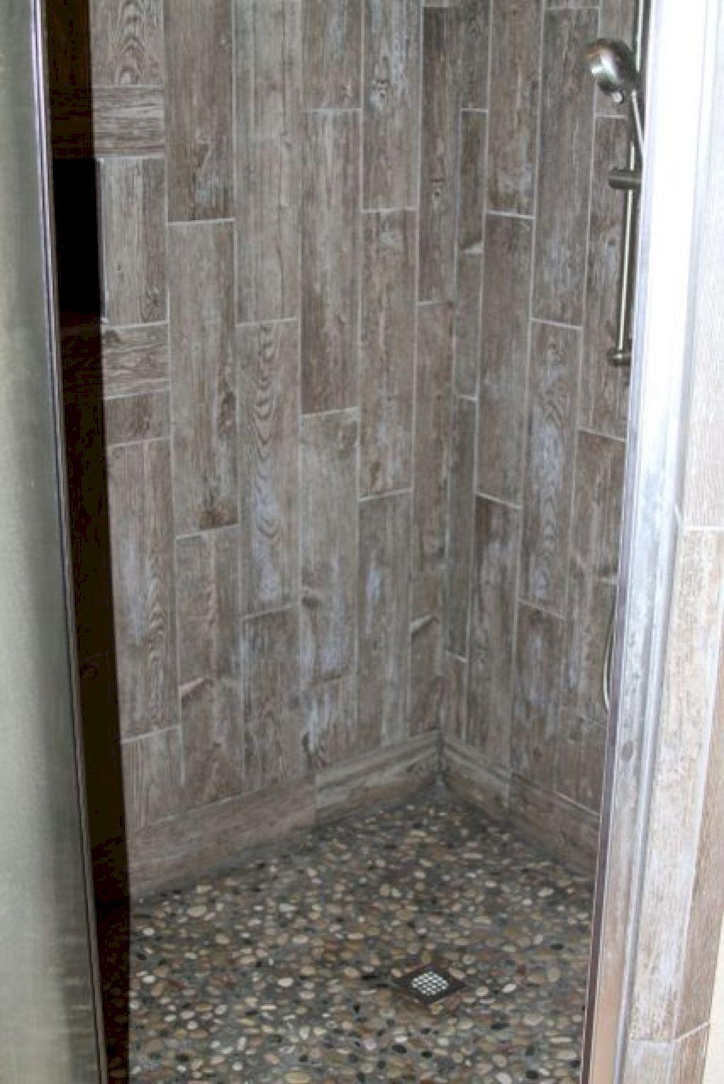 Awesome 120 Gorgeous Bathroom Tiles Design Ideas Https Homeideas Co 8927 120 Gorgeous Bathroom Til Wood Tile Shower Wood Tile Bathroom Gorgeous Bathroom Tile