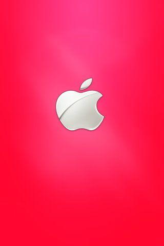 Apple Logo Red Background Iphone Wallpaper Download Apple Fever