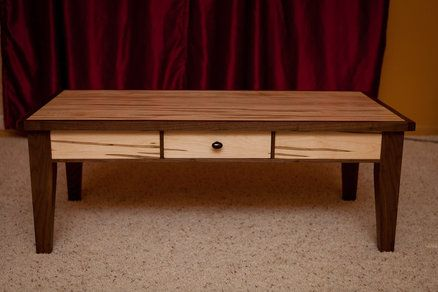 Walnut And Ambrosia Maple Coffee Table