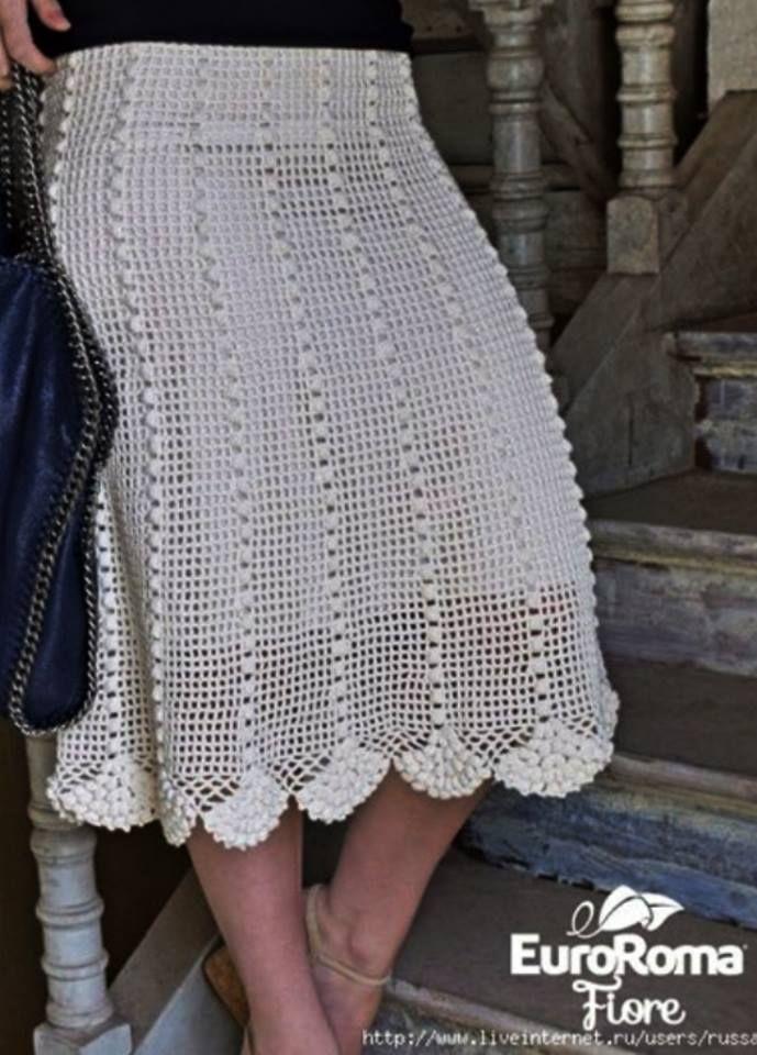 Patrón #1850: Como Hacer Falda a Crochet | Alba | Pinterest | Falda ...