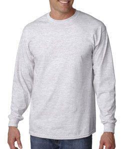 G2400 Gildan Ultra Cotton® Adult Long-Sleeve T-Shirt Ash (99/1)