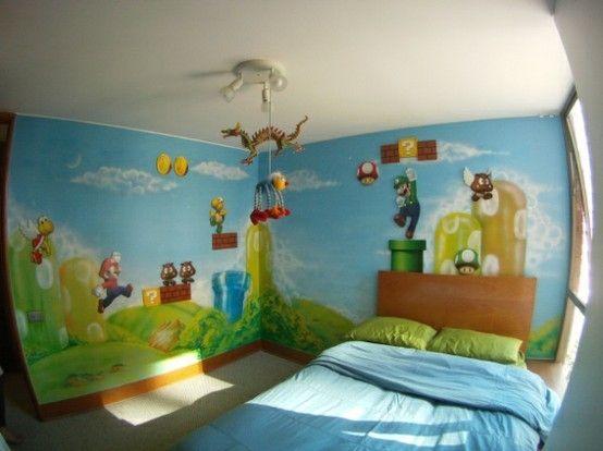 Mario themed walls :O
