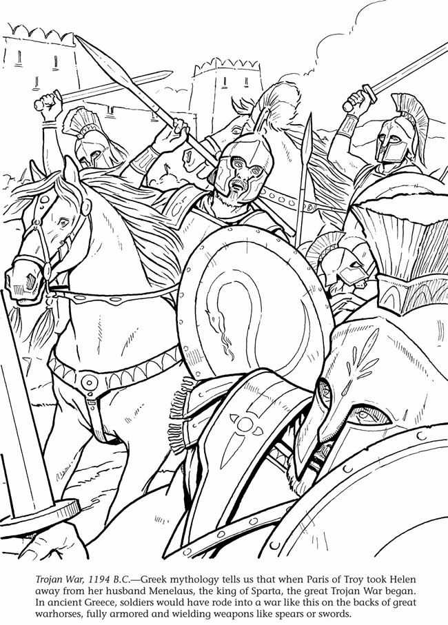 Trojan War 1194 B C Printable Horse Coloring Pages Coloring