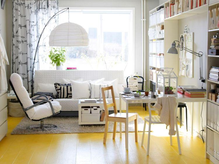 Wohnzimmer Boden ~ Wohnzimmer mit offener gestaltung und boden in gelb home office