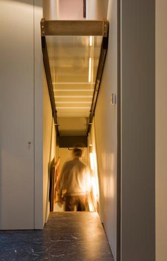 Charming Passageway Hidden Underneath Fold Up Stairs