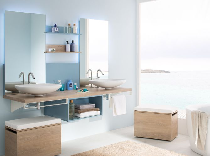Fonc�, pastel, marine ou turquoise�: quel tonalit� de bleu pour votre salle de bains ?...