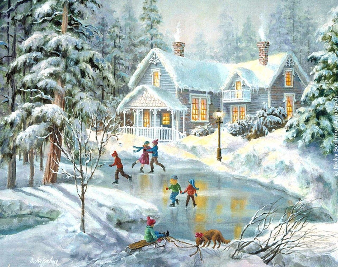 сделать красивые открытки с зимними приводом предлагает вам