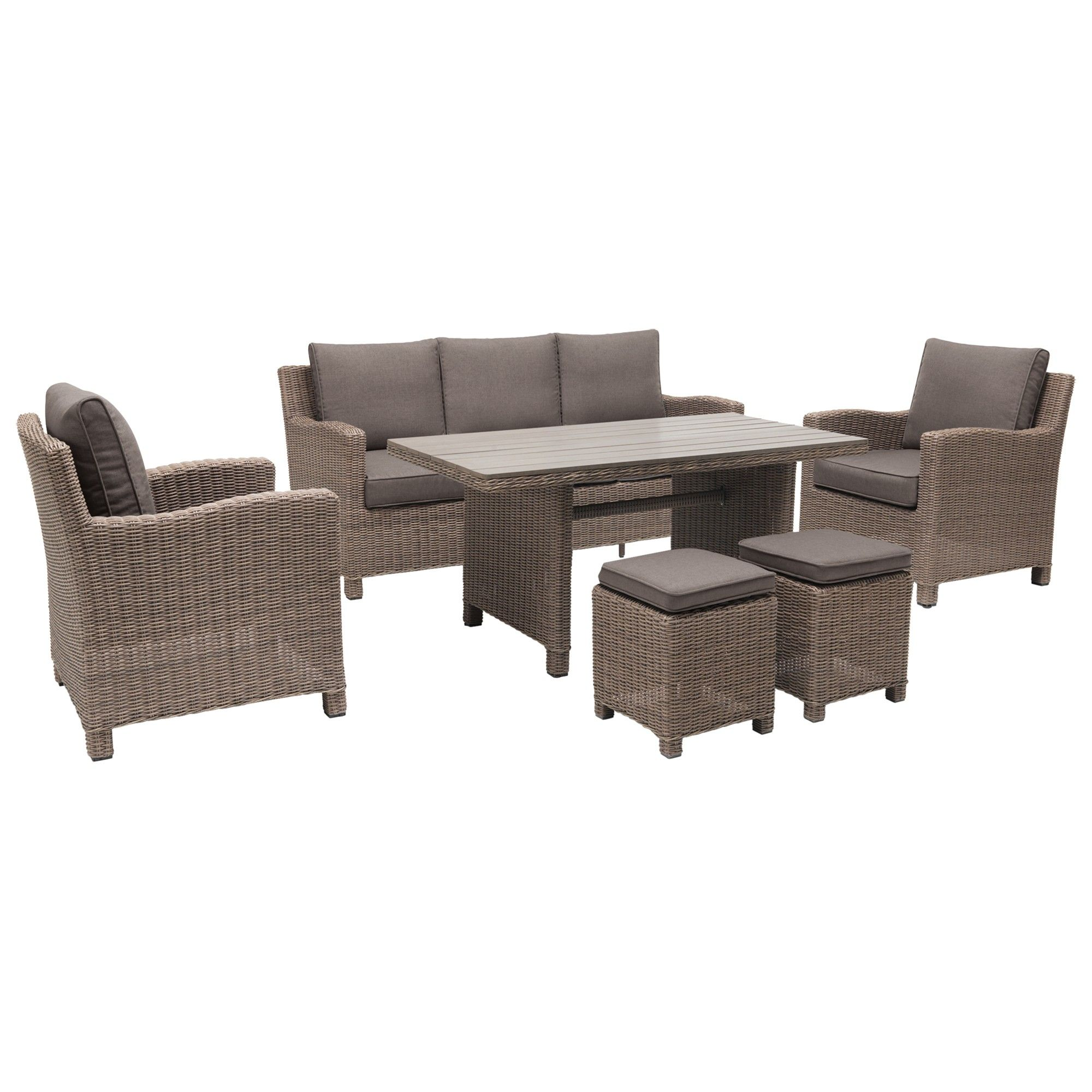 Kettler Palma Lounge Set Rattan Garden Dining Dining Sofa