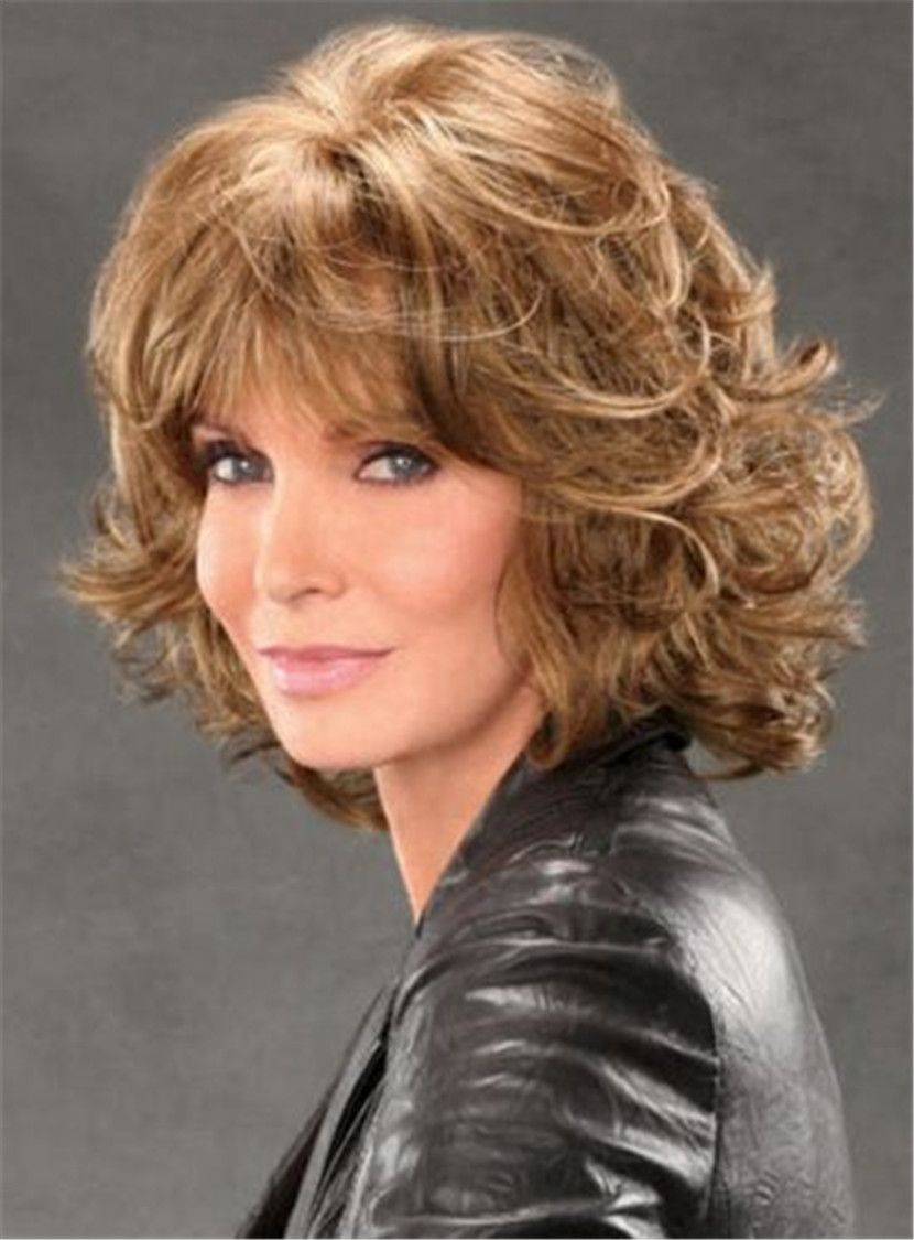 jaclyn smith mid-length shag with spiral curls capless
