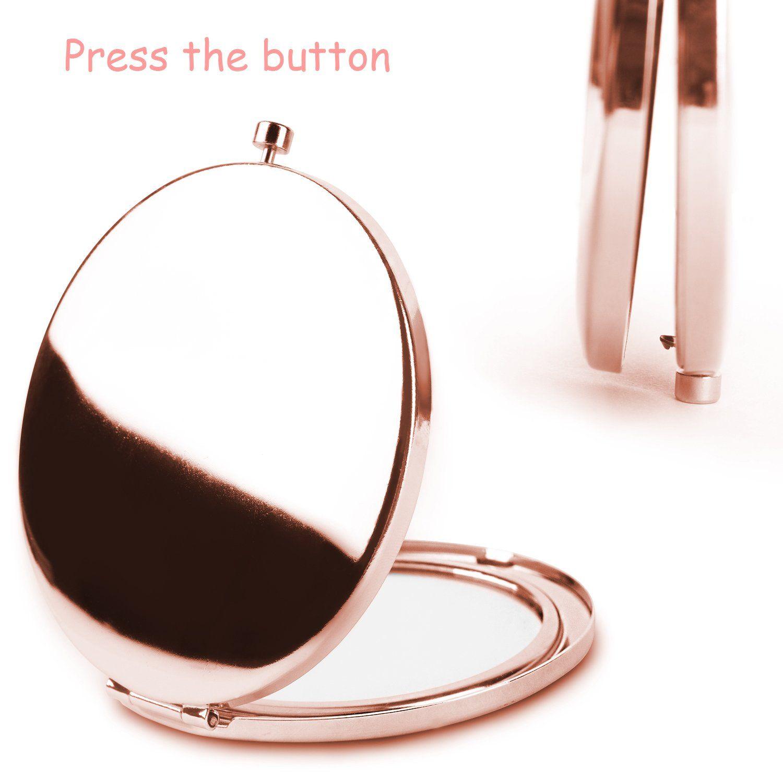 Folding Pocket Mirror Fashion Compact Mirror 2x and1x