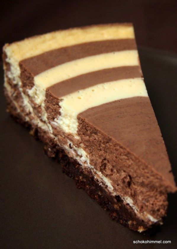 Zebra Topfentorte Torte Backen Kuchen Schoko