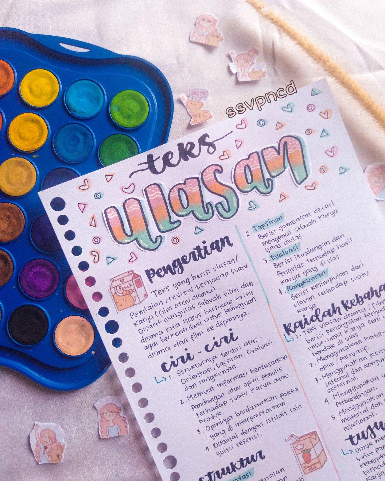 Teks Ulasan Huruf Doodle Buku Pelajaran Buku