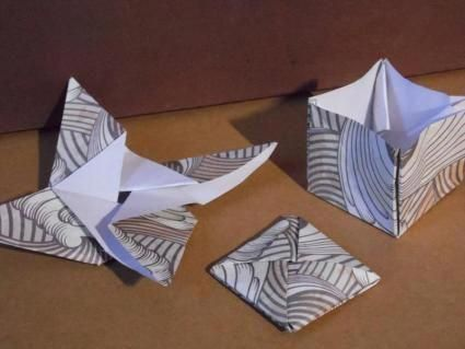 Turn Single Square Origami Paper Into Star Sealed And Box Magictricks