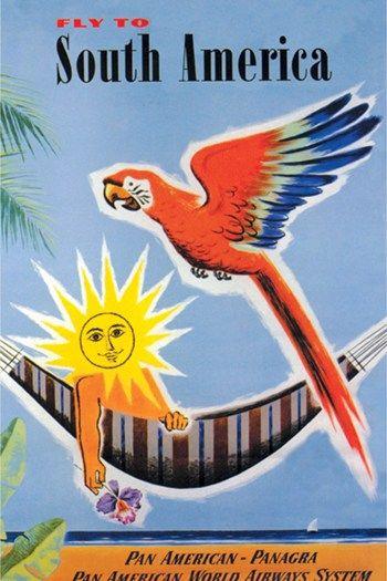 South America Klm Vintage Colombia Vintage Posters Vintage Travel Travel Posters