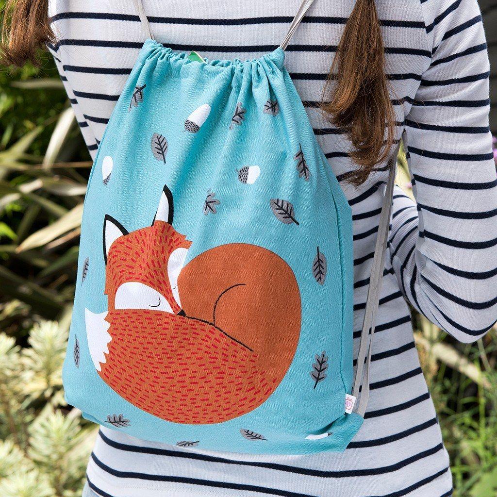 Drawstring Backpack Cute Fox Bags