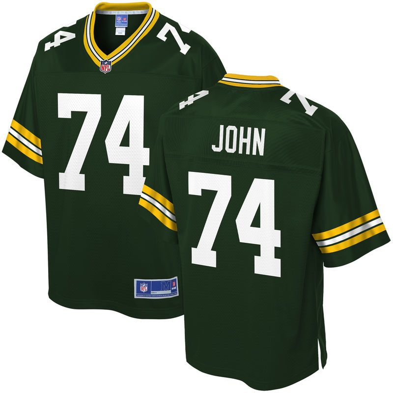 online store 9560d 2c084 Ulrick John Green Bay Packers NFL Pro Line Team Color Player ...