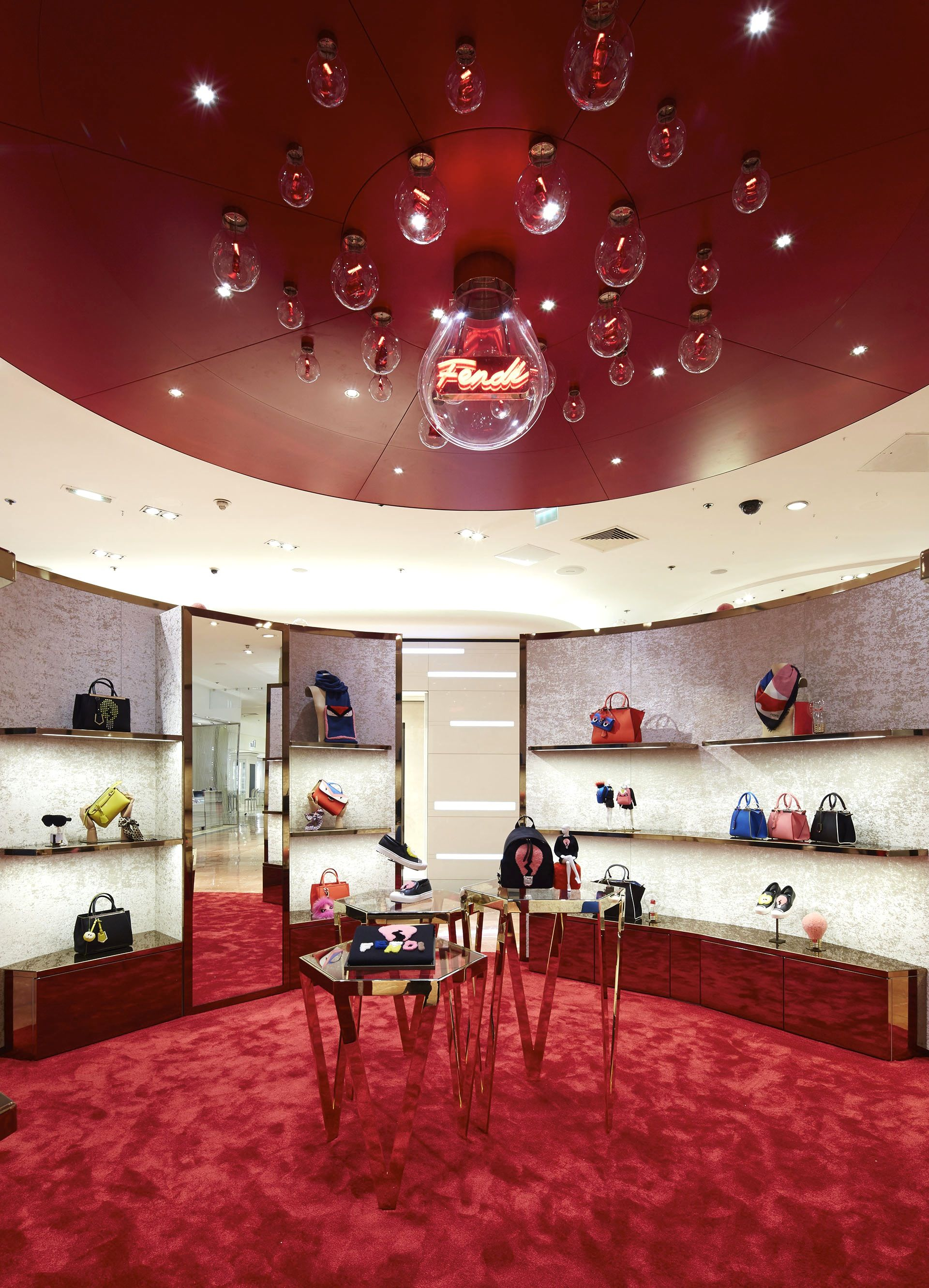 The Fendi Idea capsule collection lightens up a new pop-up store at Galeries Lafayette, Paris