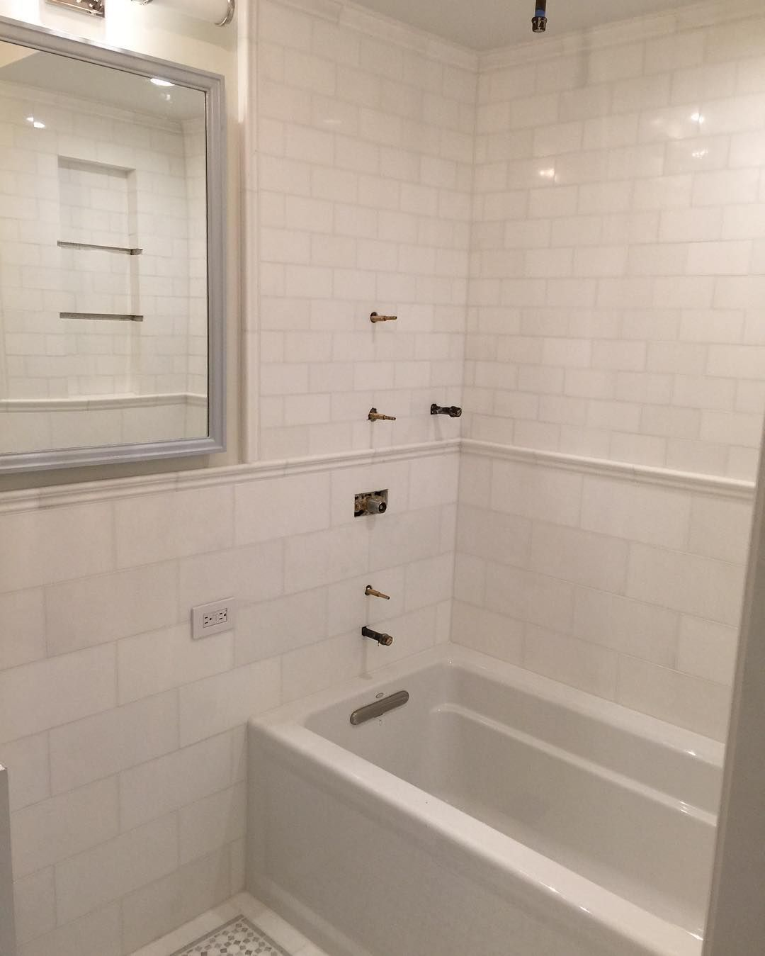 Ready For Plumbing Finishes Bathroom Tile Renovation Nyccontractor Nycrealestate By Eddysgeneralconstruction