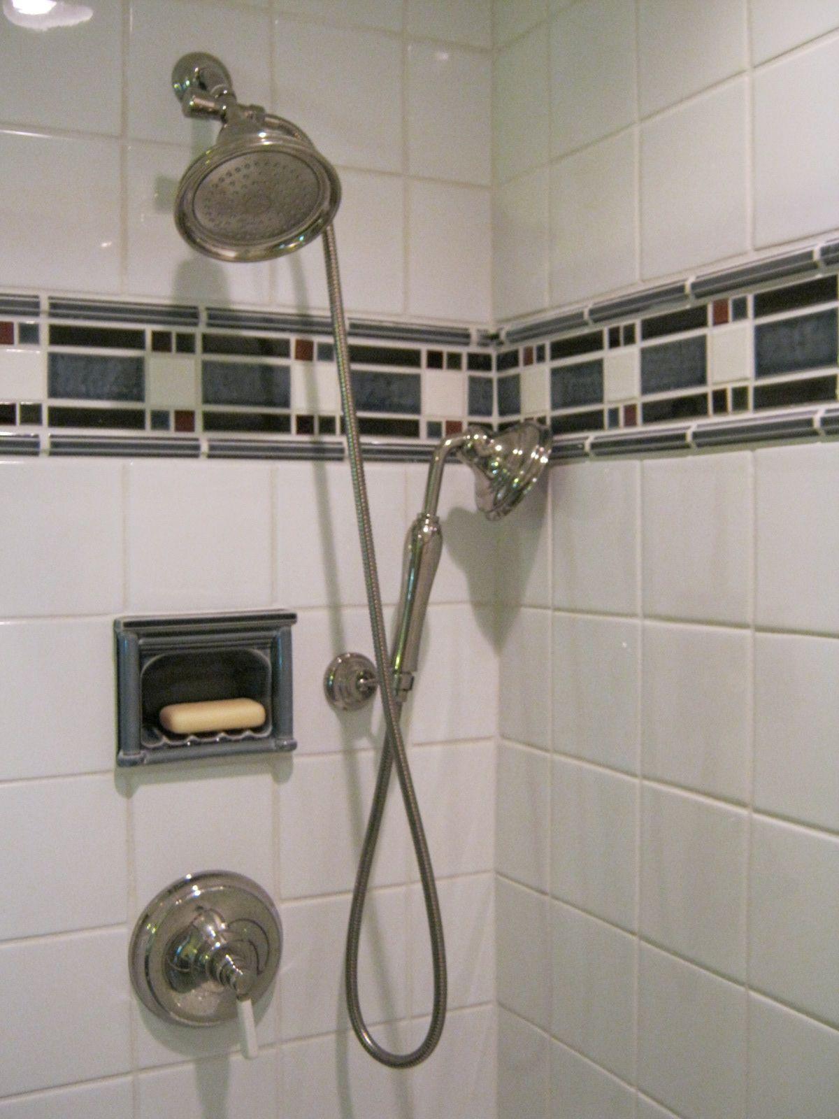 custom pratt larson mosaic tile in shower designed by monica rh pinterest com