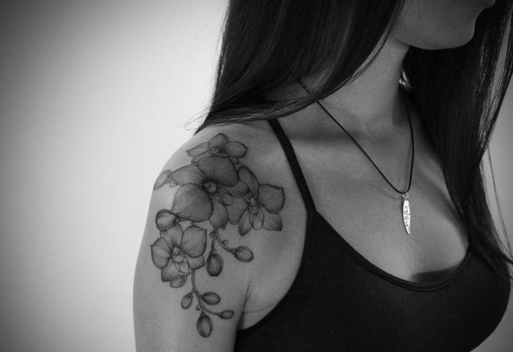 image result for black and white orchid tattoos tattoos pinterest orchid tattoo tattoo. Black Bedroom Furniture Sets. Home Design Ideas